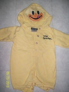 Newborn Infant Baby Cute 0 3 Months Duck Outfit Costume Hood 1 PC