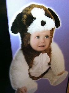 St Bernard Dog Baby Boy Girl Halloween Costume 6 12 M Month