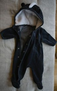Baby Gap Skunk Halloween Costume One Piece Pajama Romper 0 3 Months