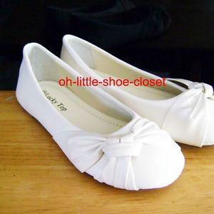 Baby Toddler White Pageant Crowning Flower Girls Dress Shoes Size 9 10 11