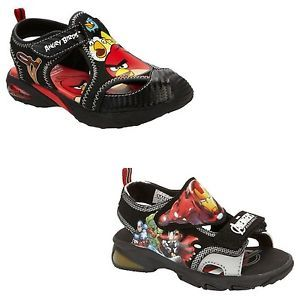 New Boy Angry Birds Marvel Avengers Sandals Shoes Toddler Size 11 12