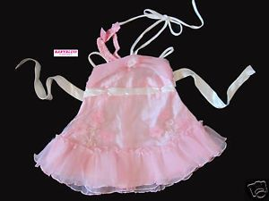 New Baby Girls Clothes Chiffon Dress Pink Whi 0 12Month