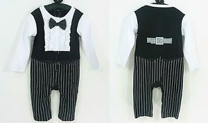 Smart Baby Boy Toddler Long Sleeves Tuxedo Costume Onepieces 3 18 Months