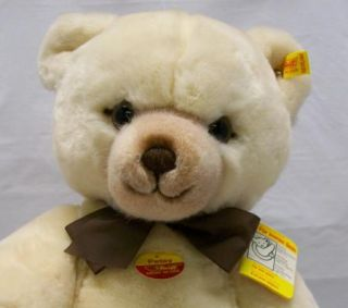 Large Steiff Petsy Cream Teddy Bear Jointed Plush 0235 45
