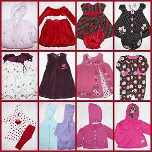 Big 16 Piece Lot Baby Girl 18 Months Clothes Dresses Coats Fall Winter