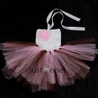 Baby Toddler Infants Girl Sweet Cute Party Chiffon Tutu Dress Newborn 24 Months