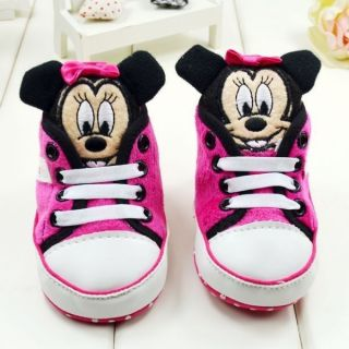 Baby Girl Infant Minnie Mouse Shoes Sneaker Boots 3 6 6 9 9 12 Months Size 2 3 4