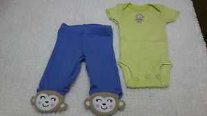 New Baby Girl Preemie Premature Baby Bodysuits Pants Reborn Clothes