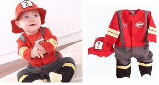 Toddler Kids Boy Girl Halloween Christmas Dress Set Chef Santas Fireman Pilot