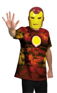 Iron Man Alternative Shirt and Mask Adult Mens Costume Avengers Movie Halloween