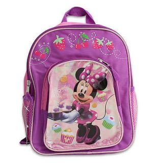"Disney Minnie Mouse Kids Girls School 12"" Backpack 2 Compartment Book Bag"