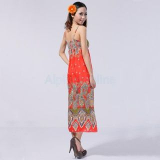 Long Bohemian Hippie Boho Maxi Dress Sundress Skirt 02226