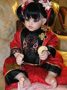 Sweet Asian Baby Girl Fortune Cookie by Fayzah Spanos