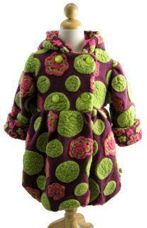 Corky and Company Girl Winter Coat Berry Kaleida Dot