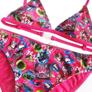 Baby 2T Girl Monster High Skull Swimwear Swimming Bikini Two Piece Swim Suit New