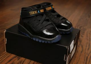 New Nike Air Jordan Retro 11 XI Gamma Blue Toddler 100 Authentic DS 4 10c