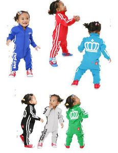 Toddler Baby Girl Hip Hop Track Suit Romper Sporty Athlete Outfit Thicker Fabric