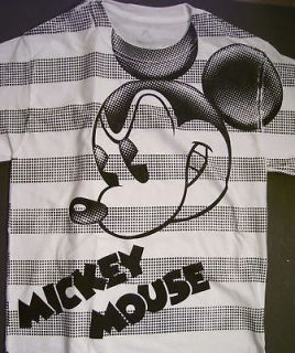 Disney Park Mickey Mouse Black White T Shirt XL New
