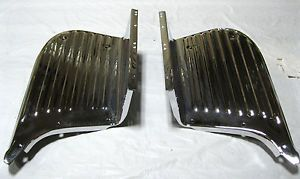 Chevy Short Bed Truck Chrome Bedside Step Stepside Pair