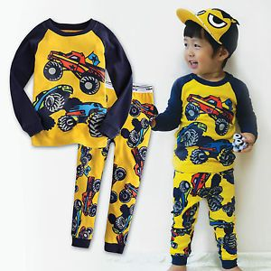 "Vaenait Baby Toddler Kid Unisex Long Sleeves Pyjama Set "" 2012 Hummer """