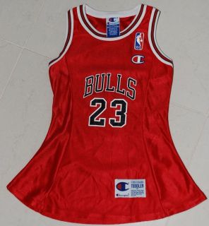 Michael Jordan Chicago Bulls Dress 1990's Vintage Original NBA Jersey Toddler 3T
