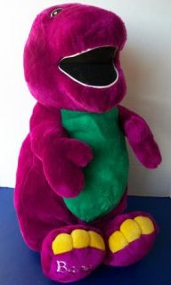 "Huge Plush Barney Big Large Purple Dinosaur 25"" Stuffed Animal"