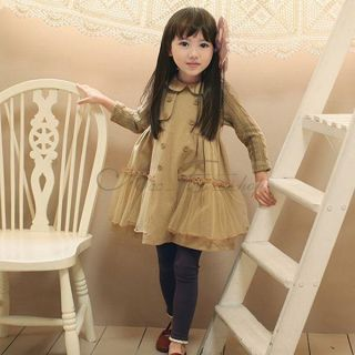 Girls Baby Princess Yarn Long Sleeve Party Pageant Dress Top Tulle Skirt 3T 7