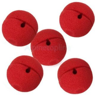 5pcs Red Foam Ball Clown Nose Costume Cosplay Halloween Party Funny Fancy Prop