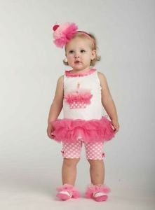 New Mud Pie Baby Girls Size 9 12 18 Months 2T 3T Birthday Clothes Tunic Shorts