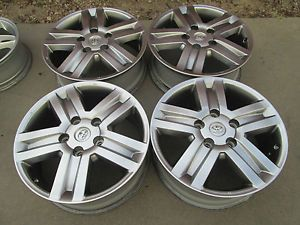 "20"" Toyota Tundra Sequoia Factory Wheels Rims Silver Matalic"
