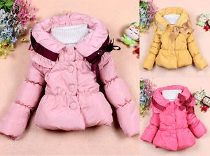 New Baby Girls Toddler Outwear Clothes Kids Winter Jacket Coat Snowsuit Clothing
