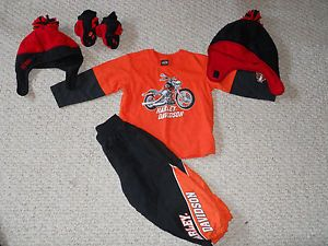 Lot of Winter Clothes Harley Davidson Set Old Navy and More Baby Boy