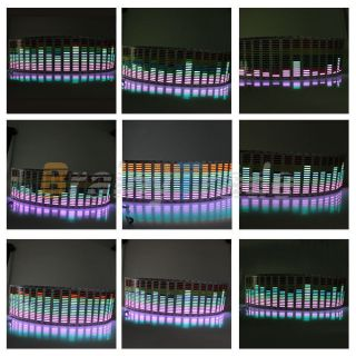 Car Stickers Sound Music Activated Sensor Multi Color LED Equalizer Glow 80 19cm
