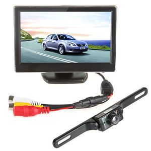 5 inch TFT LCD Car Monitor 420TVL CMOS Wireless Car Rear View Camera US
