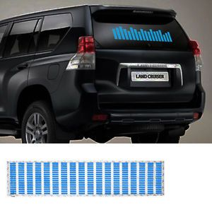 Car Auto Sticker Music Rhythm LED Flash Light Lamp Sound Activated Equalizer