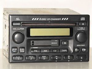 02 04 Honda CRV 6 CD Radio Tape Player Radio Tape Play Changer Needs Repair