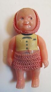 Vintage Renwal Dollhouse Family People Miniature Baby Boy Doll No 8 with Clothes