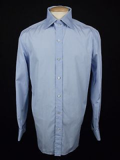 Tom Ford Mens Dress Shirt 42 16 5 L Casual 100 Cotton French Cuff Long Sleeve
