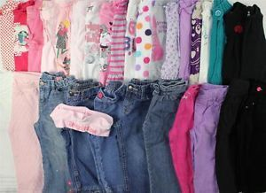 Huge Used Baby Toddler Girl 18 24 Month 2T Fall Winter Outfits Clothes Lot BTS