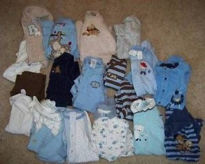Huge 19 PC Lot Baby Boys Fall Winter Clothes Outfits 0 3 3 Month Newborn