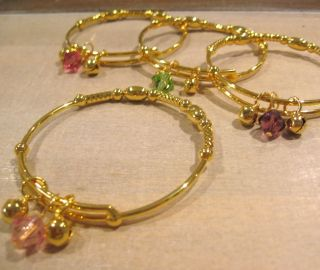 Swarovski Crystal 18K Gold PL Baby Girls Bangle Bracelet Designs 11 Colours
