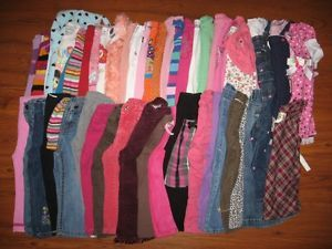 Huge Lot of Baby Toddler Girls Size 24 Months 2T Fall Winter Clothes