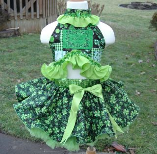 National Pageant Casual Wear Sz 4 5 6 Gorgeous St Patricks Day Wear TDF OOAK
