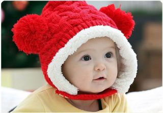 6 Colors New Crochet Baby Toddler Girl Boy Thicken Winter Warm Hat Cap Earflaps