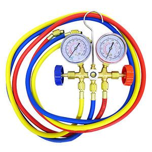 Manifold Gauges Set A C Tester Service Diagnostic Tools Automotive Repair Hoses