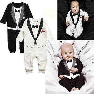 Baby Kid Toddler Infant Gentleman Onesie Bodysuit Romper Jumpsuit Coverall Cloth