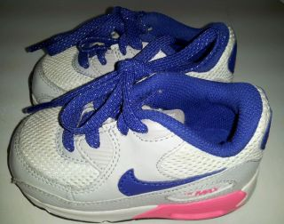 Air Max 90 Infant Toddler White Blue Pink