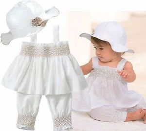 1pc Baby Toddler Girl Kid Cotton Top Plaids Dress Outfit Clothes Skirt NO90