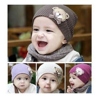 Adorable Bear Cotton Baby Cap Hat Head Gear Accessary 1pc