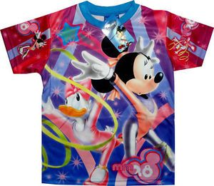 Disney Minnie Mouse Daisy Duck Girls T Shirt Kids Childrens Top Clothes Clothing